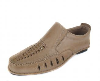 Мъжки обувки естествена кожа бежови BKSX-16824