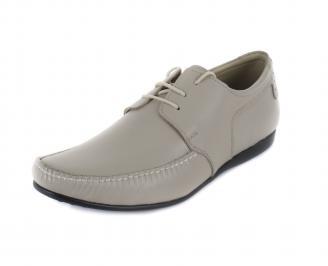 Мъжки обувки естествена кожа бежови официални OAPI-16852