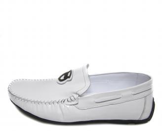 Мъжки обувки естествена кожа бели LEXX-17191