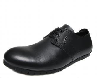 Мъжки обувки естествена кожа черни OUOD-17549