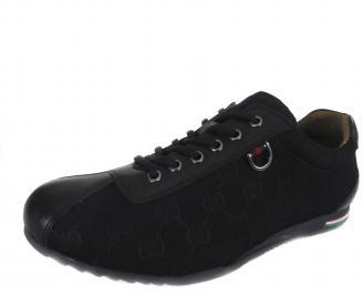 Мъжки обувки естествена кожа черни ZSPZ-18469