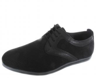 Мъжки обувки естествена кожа черни LORZ-19658