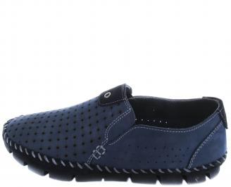 Мъжки обувки естествена кожа тъмно сини XQNS-19660