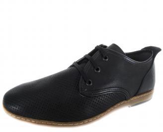 Мъжки обувки естествена кожа черни RSIK-19712