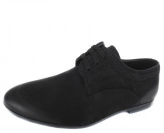 Мъжки обувки естествена кожа черни JPEP-19723