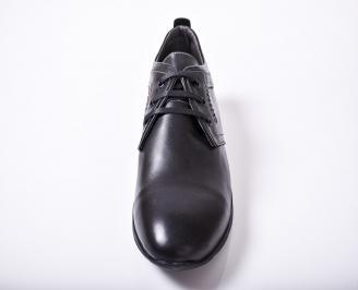 Мъжки обувки -Гигант естествена кожа черни IQIV-1011580