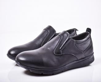 Мъжки обувки -Гигант естествена кожа черни PDZC-1011588