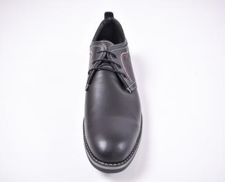 Мъжки обувки -Гигант естествена кожа черни WCHK-1012626