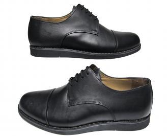Мъжки обувки- Гигант  естествена кожа черни GUNO-21217