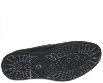 Мъжки обувки-Гигант естествена кожа черни KDAJ-21231