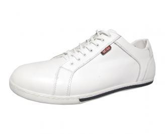 Мъжки обувки Гигант естествена кожа бели LIKN-13364