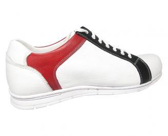 Мъжки обувки Гигант естествена кожа бели SOIF-13365