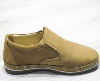 Мъжки обувки набук бежови WBOE-23718