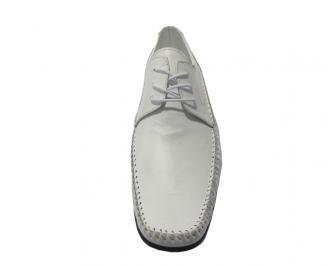 Мъжки обувки официални естествена кожа бели PNTY-11183
