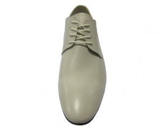 Мъжки обувки официални естествена кожа бежови RIRH-11222