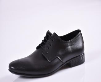 Мъжки обувки официални естествена кожа черни UTGO-23393