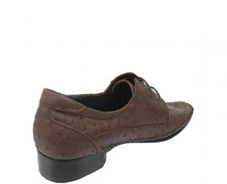 Мъжки обувки официални естествена кожа кафяви HDML-11413