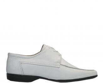 Мъжки обувки официални естествена кожа бели ZMRD-11830