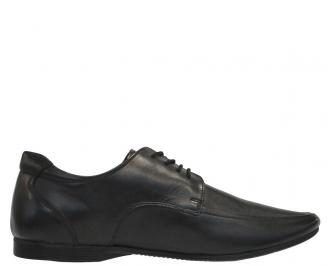 Мъжки обувки официални естествена кожа черни SPVJ-11983