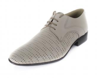 Мъжки обувки официални естествена кожа бежови BOUF-16893