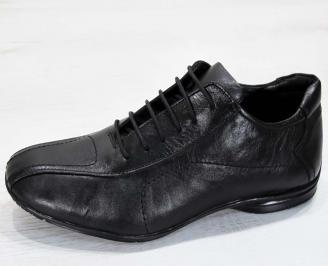 Мъжки обувки от естествена кожа черни RKLK-23014