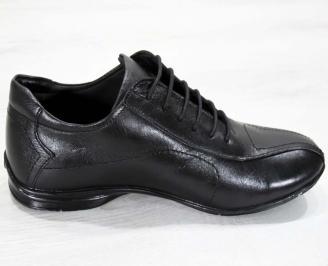 Мъжки обувки от естествена кожа черни 3