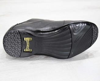 Мъжки обувки от естествена кожа черни 4