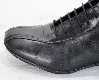 Мъжки обувки от естествена кожа черни 5