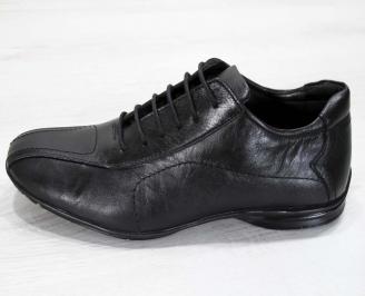 Мъжки обувки от естествена кожа черни 6