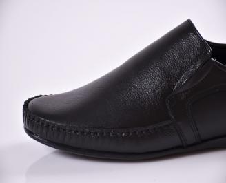 Мъжки обувки  от естествена кожа черни VTNG-23368