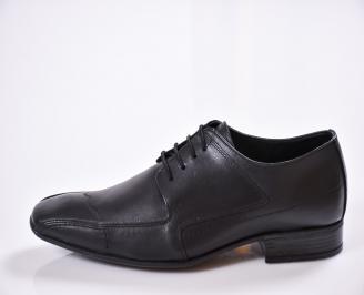 Мъжки обувки от естествена кожа официални черни WTWM-23369
