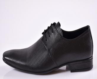 Мъжки обувки от естествена кожа официални черни TICY-23372