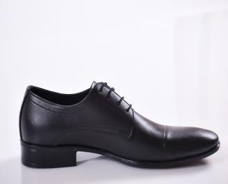 Мъжки обувки от естествена кожа официални черни GAEX-23373