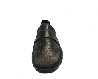 Мъжки обувки от естествена кожа  черни RKXS-10019