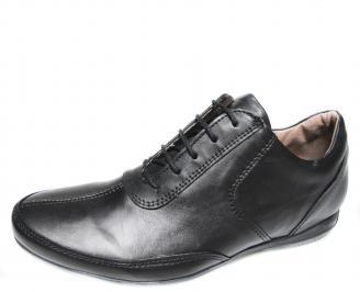 Мъжки обувки от естествена кожа черни TOKF-11921