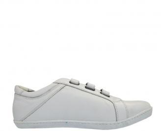 Мъжки обувки от естествена кожа бели PZBA-10025