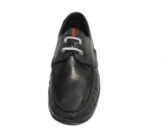 Мъжки обувки от естествена кожа черни NEVF-10296