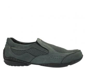 Мъжки обувки от естествена кожа спортни сиви GPHQ-10301