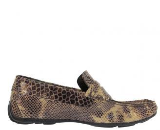 Мъжки обувки от естествена кожа кафяво QVEI-10304
