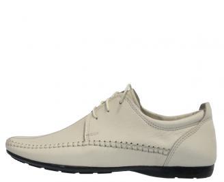 Мъжки обувки от естествена кожа официални бежови XQYY-10313