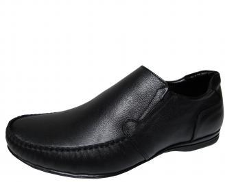 Мъжки обувки  от естествена кожа черни DJVF-10314