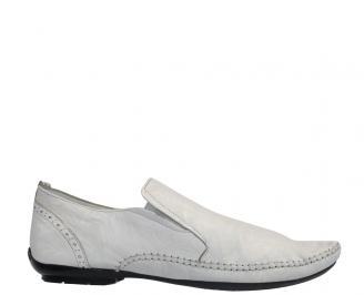 Мъжки обувки от естествена кожа бели WESX-10315