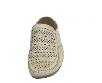 Мъжки обувки от естествена кожа официални бежови KYHZ-10322