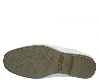 Мъжки обувки от естествена кожа бяло OWGN-10323