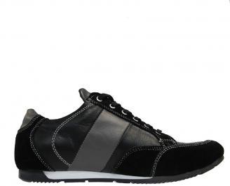 Мъжки обувки от естествена кожа черни CWQX-10038