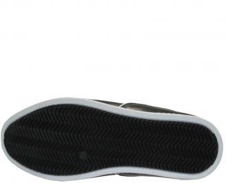 Мъжки  обувки от  естествена кожа черни NPLS-10042