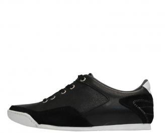 Мъжки обувки от естествена кожа черни ZWQP-10044