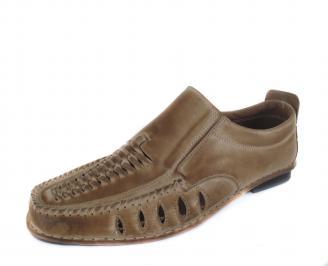 Мъжки обувки от естествена кожа бежови CNBN-16823