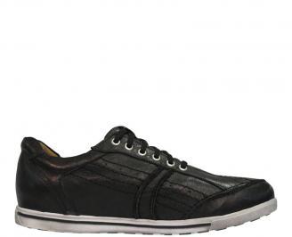 Мъжки обувки от естествена кожа черни JAAZ-10072