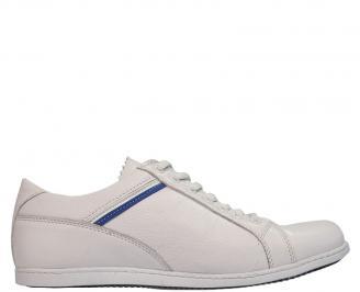 Мъжки обувки от естествена кожа бели PCLS-10083